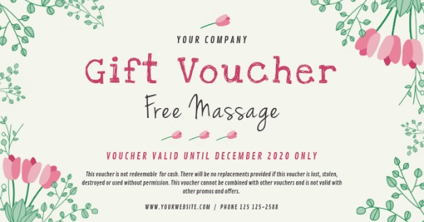 Description: Spa Gift Voucher Template | PosterMyWall