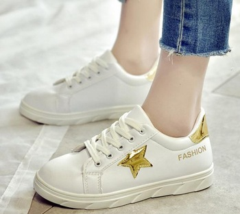 Description: Latest Design Wholesale Woman New Casual Shoes Star Print Girl ...