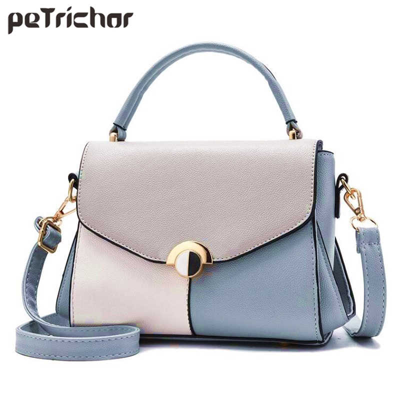 Description: Panelled Casual Style Slim Shoulder Bag Women Synthetic Leather ...